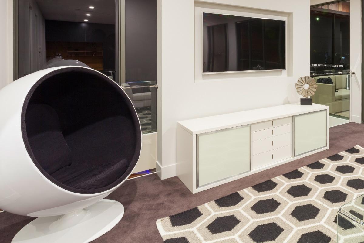 retro meubel in woonkamer
