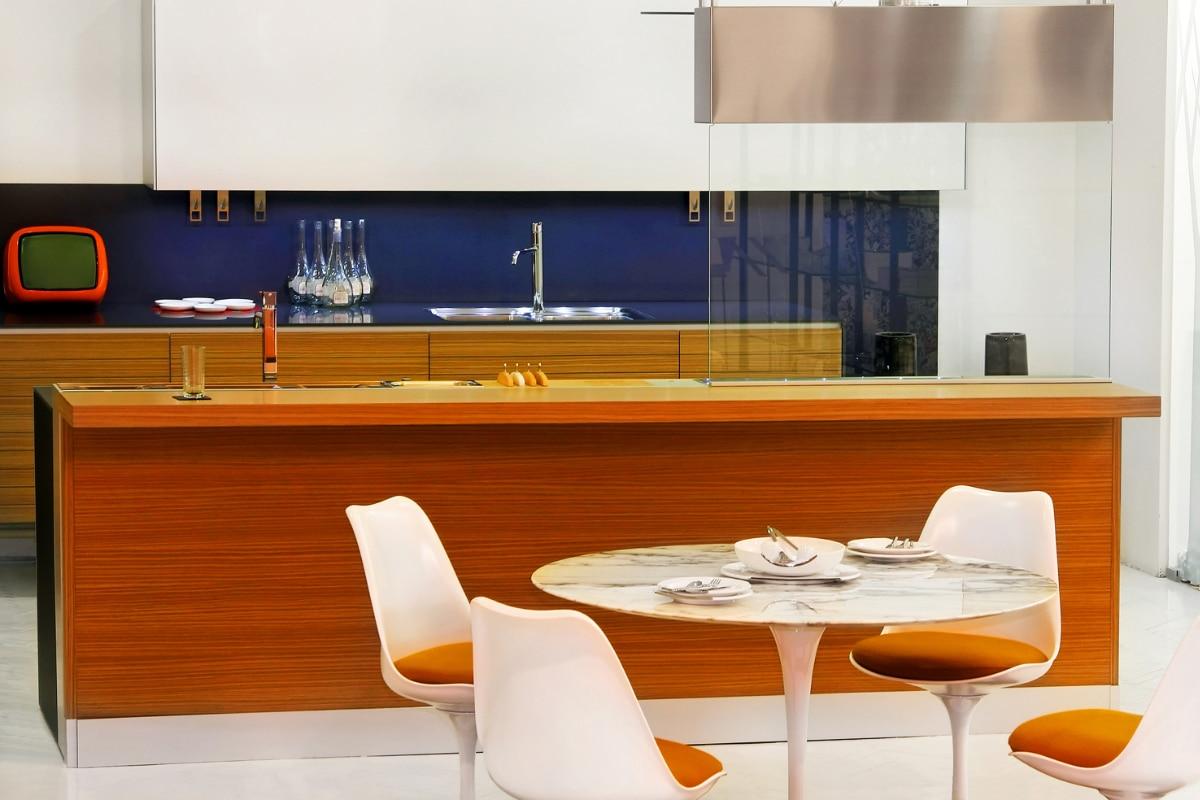 retro meubels in de keuken